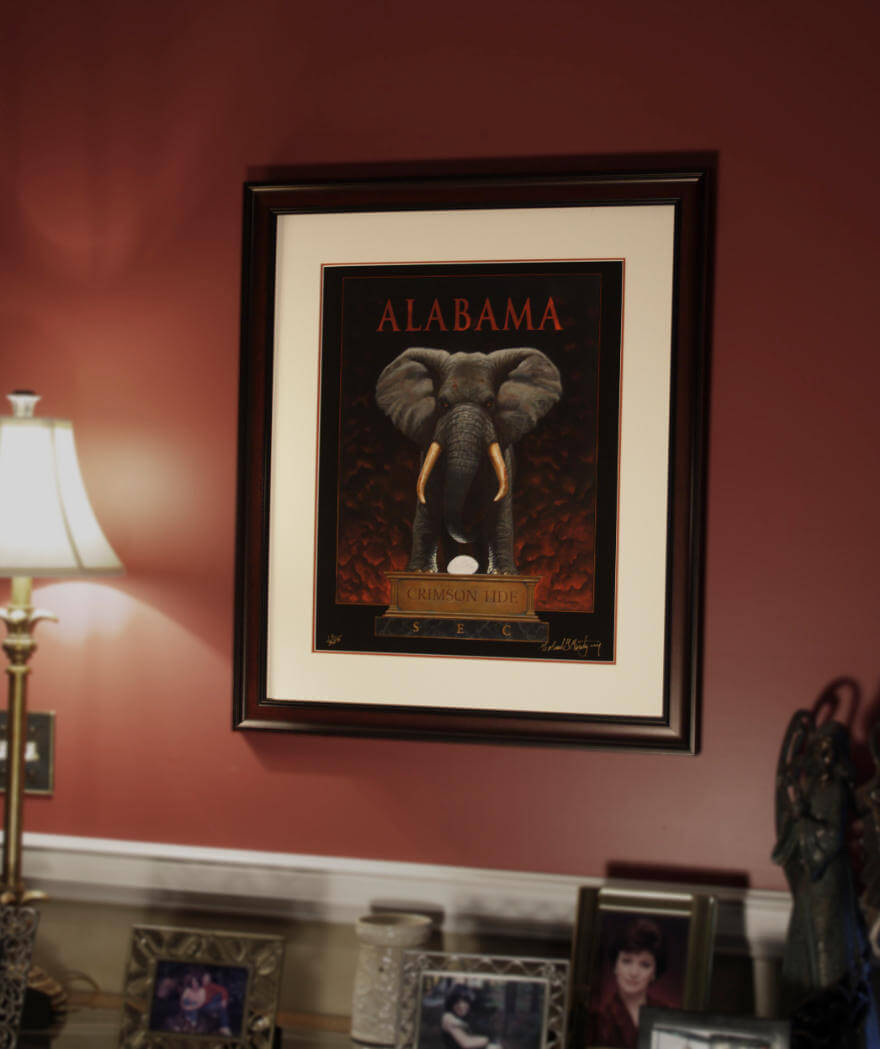 An example of what the framed print looks like in a home